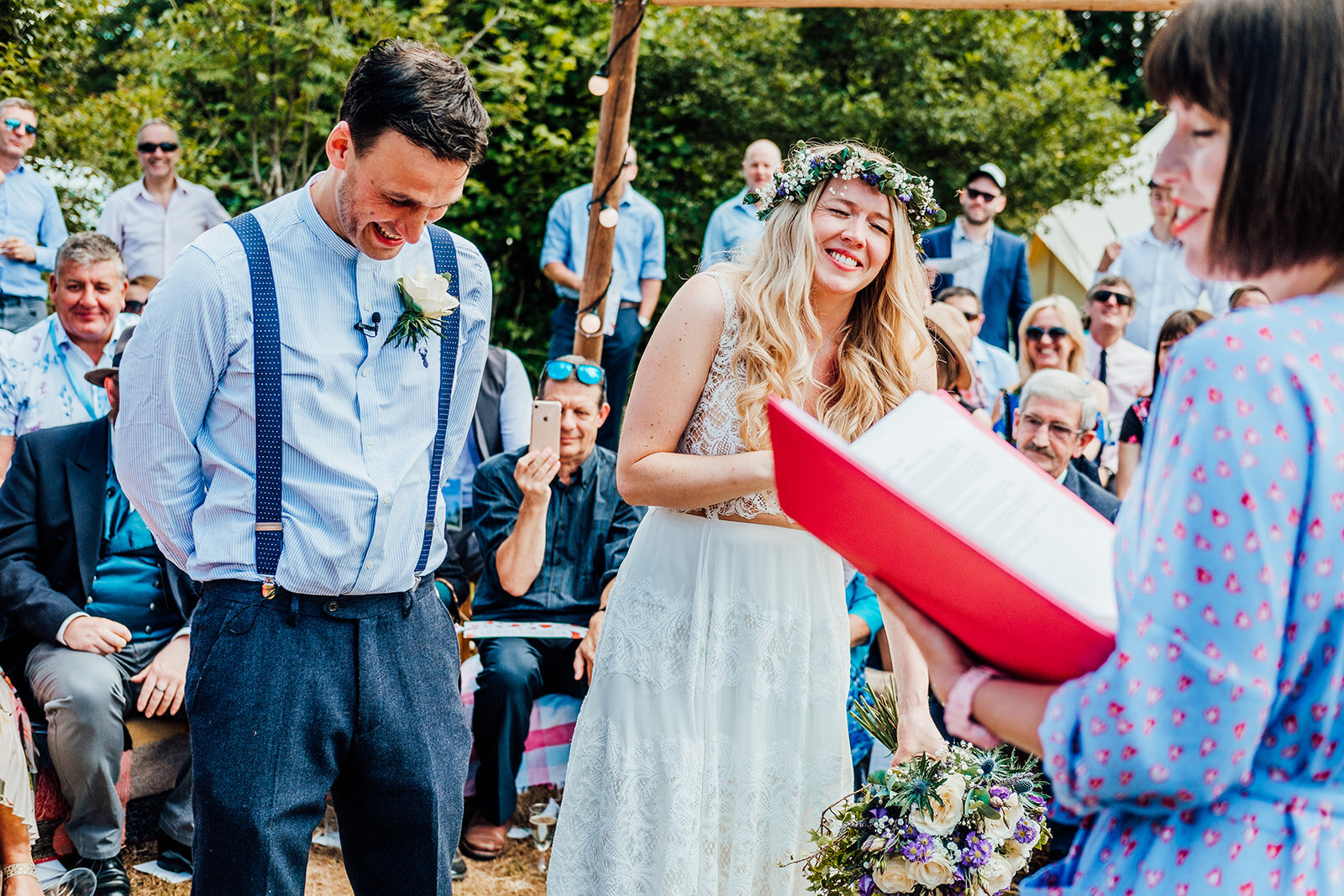 Chris and Polly feeling the love in their one of a kind humanist wedding ceremony! Image by  Anna Pumer Photography