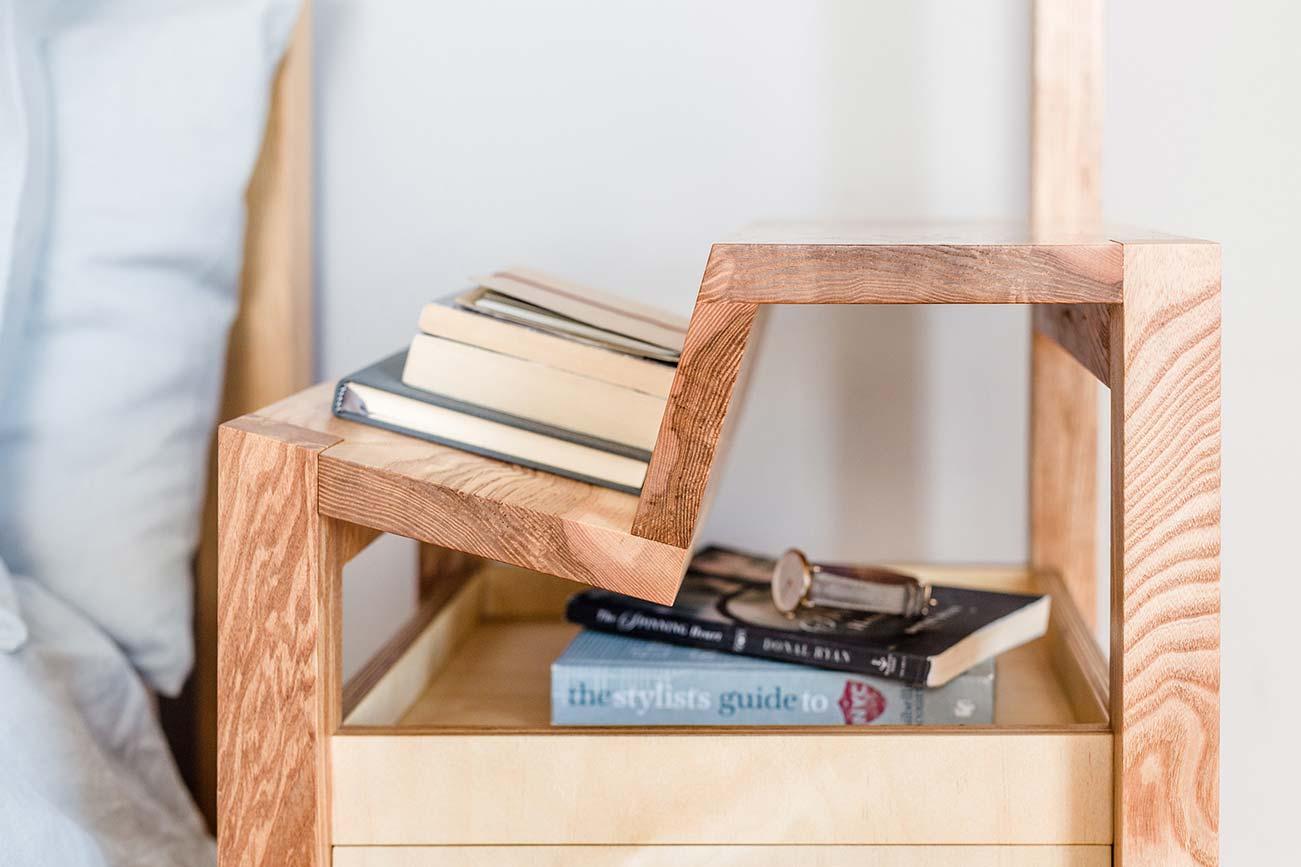 Bedside Reading Cabinet - bespoke bedside cabinet for the avid reader