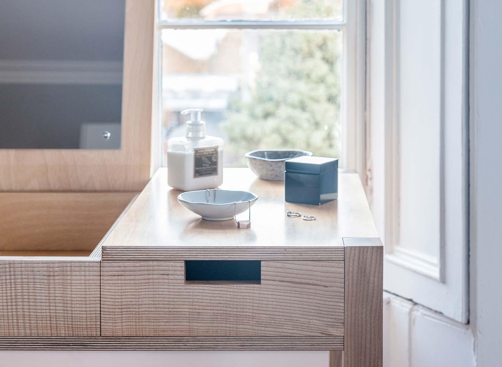 Desk Dressing Table - made from beautiful wild Irish ash