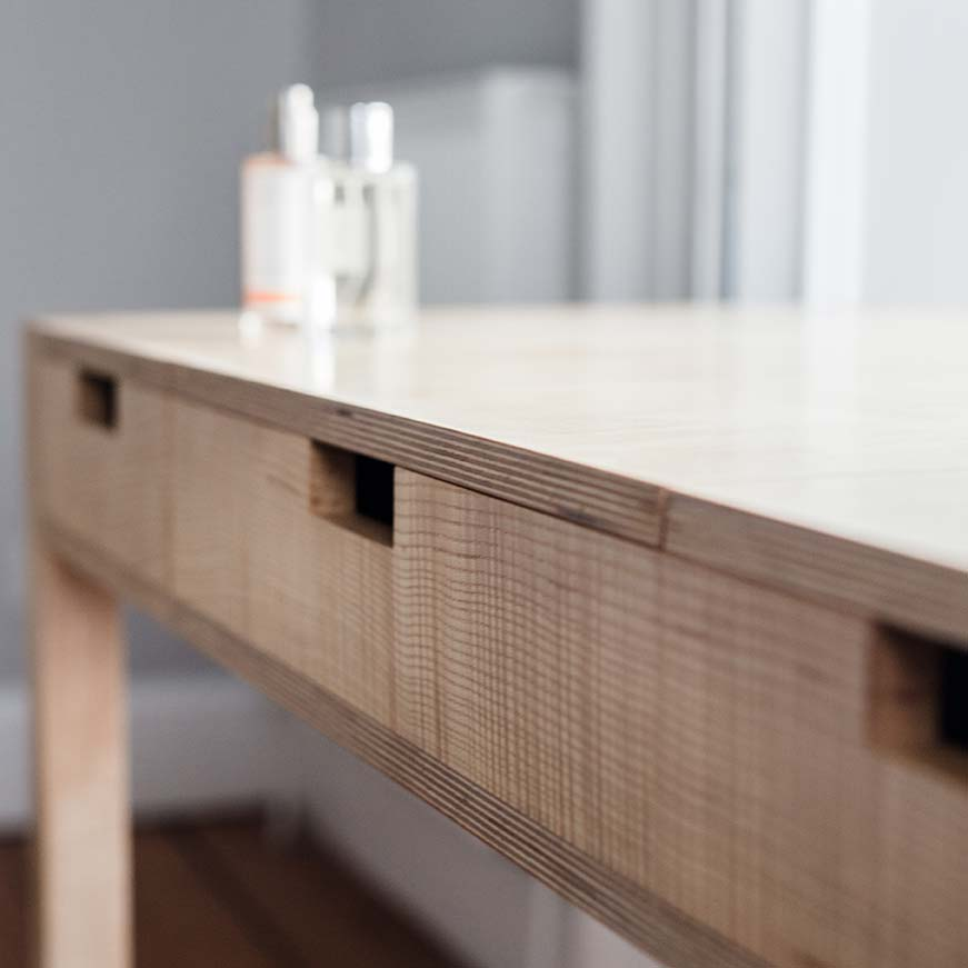 Details - Dimensions: height 74cm, width 120cm, depth 60cm.Limited edition no.3 now available.Price: €1750Each desk dressing table is made specially to order. Please contact Colin to discuss any custom requirements and expected delivery times.