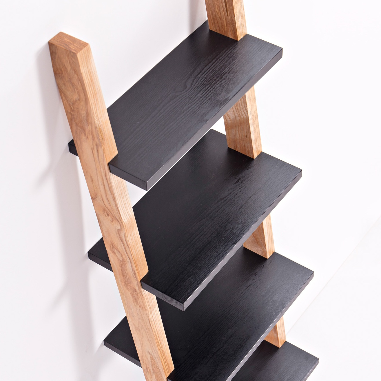 Materials - The shelving is handmade in beautiful wild Irish ash and black waxed Finnish pine. Then finished with a hardwearing, natural, hand rubbed oil.The wild Irish ash trees are sourced from Co. Wicklow and are either windblown or have reached their end of life and need to be taken down. They are unmanaged