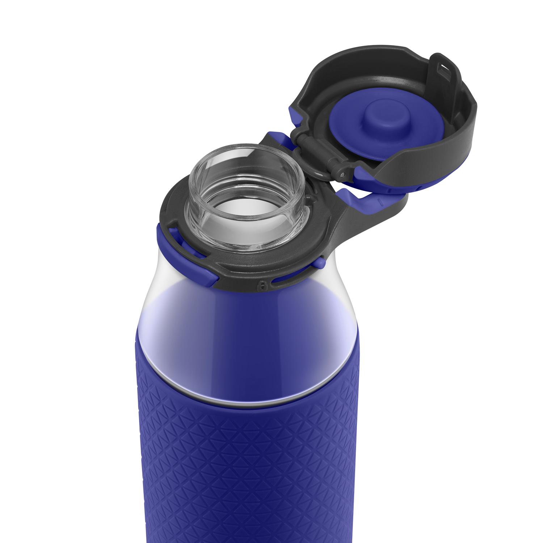 ZULU Studio Glass Water Bottle with Silicone Sleeve