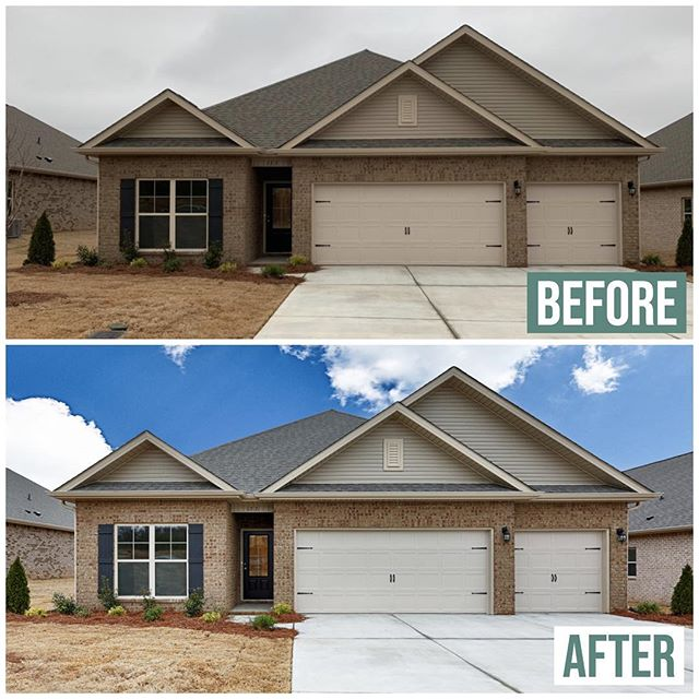 {BEFORE} Urban Lens Studios vs. {AFTER} Urban Lens Studios. Realtors, are you thinking you need to wait until a pretty day to schedule pictures? We're here to change your mind!  #urbanlensstudios #beforeandafter #huntsvillerealtor #huntsvilleal #huntsvillerealestate #realestatephotography #photography #transformation #allclimates
