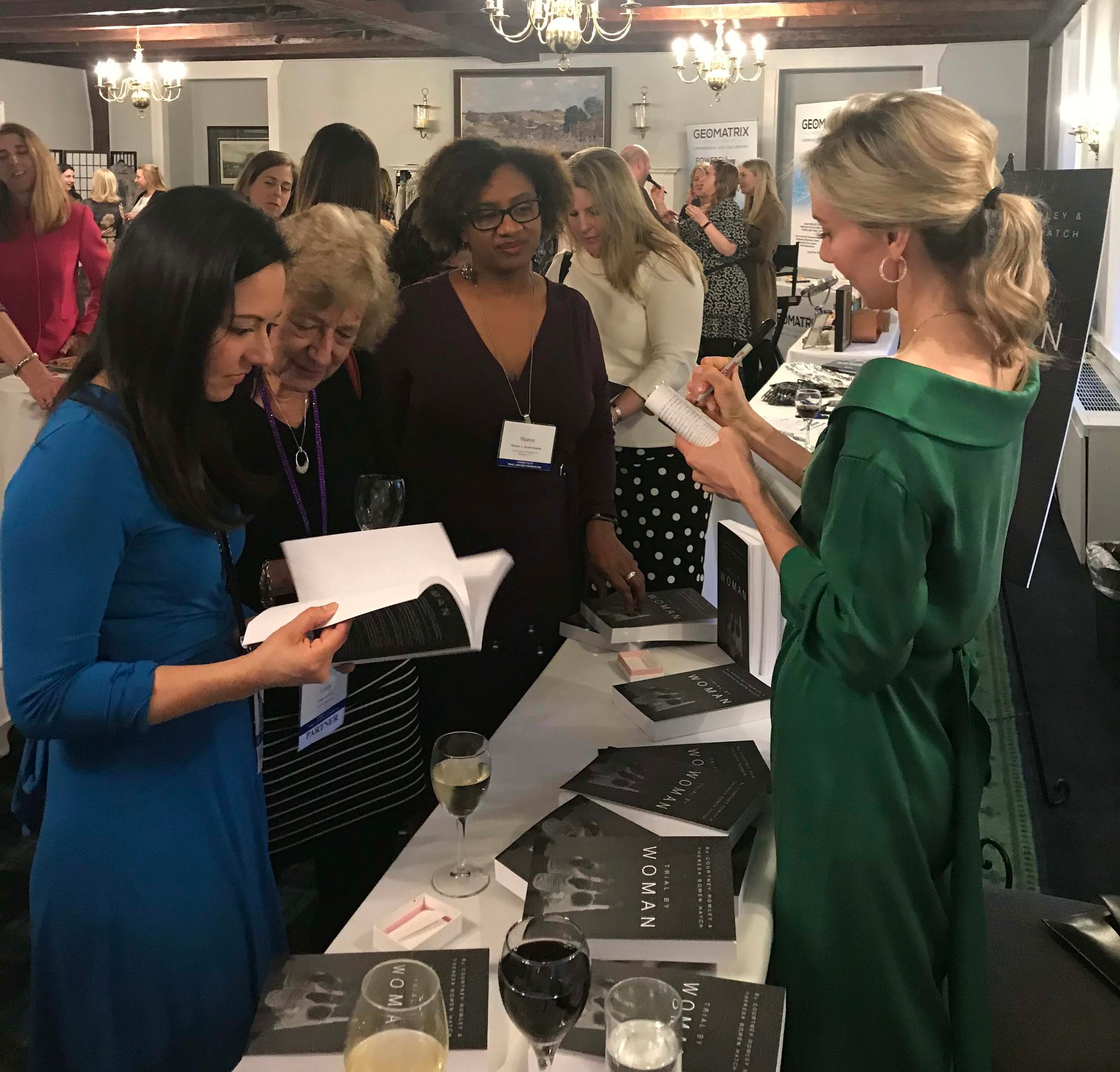 """Knowing Our Power: Women & Leadership"" - This event was hosted by the Connecticut Trial Lawyers Association's Women's Caucus, March 15-16, 2019, in Norwich, CT. Trial By Woman's Theresa presented the keynote and held a book signing for the ladies!"