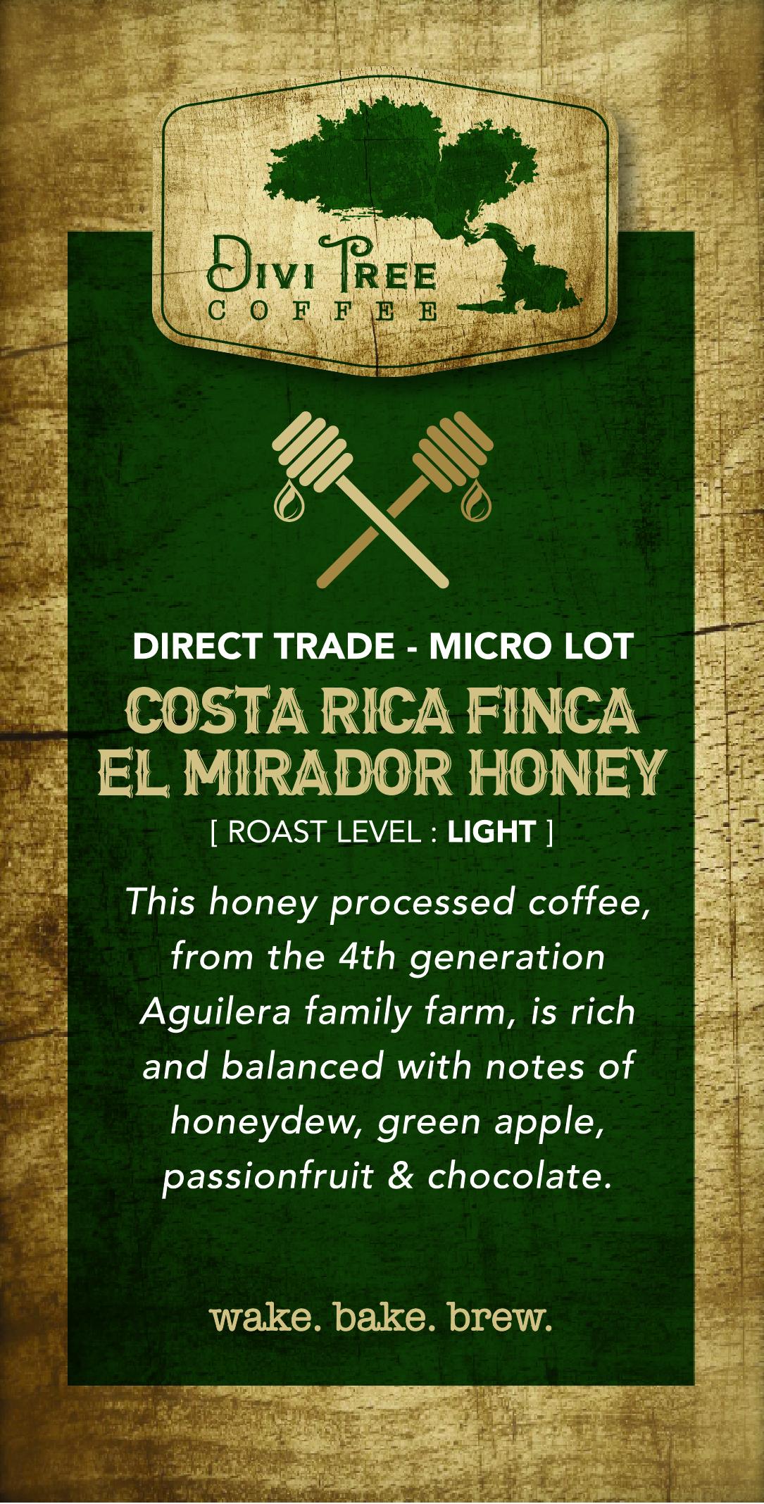 Costa Rica Finca - El Mirador Honey