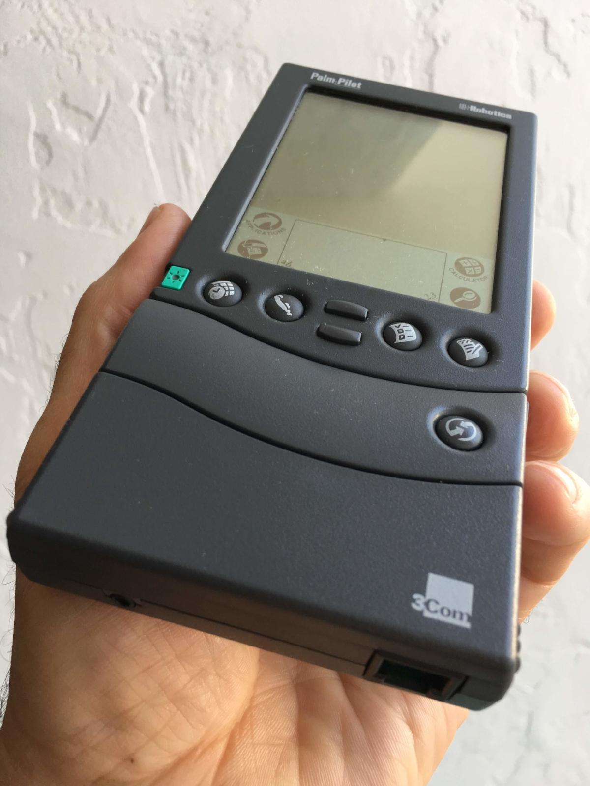 The original Palm Pilot with a modem.