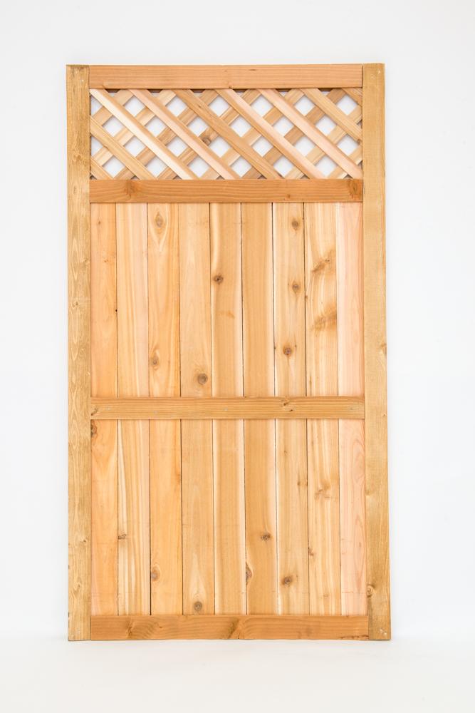 """cedar diamond lattice top gate 5' 4""""x3"""""""