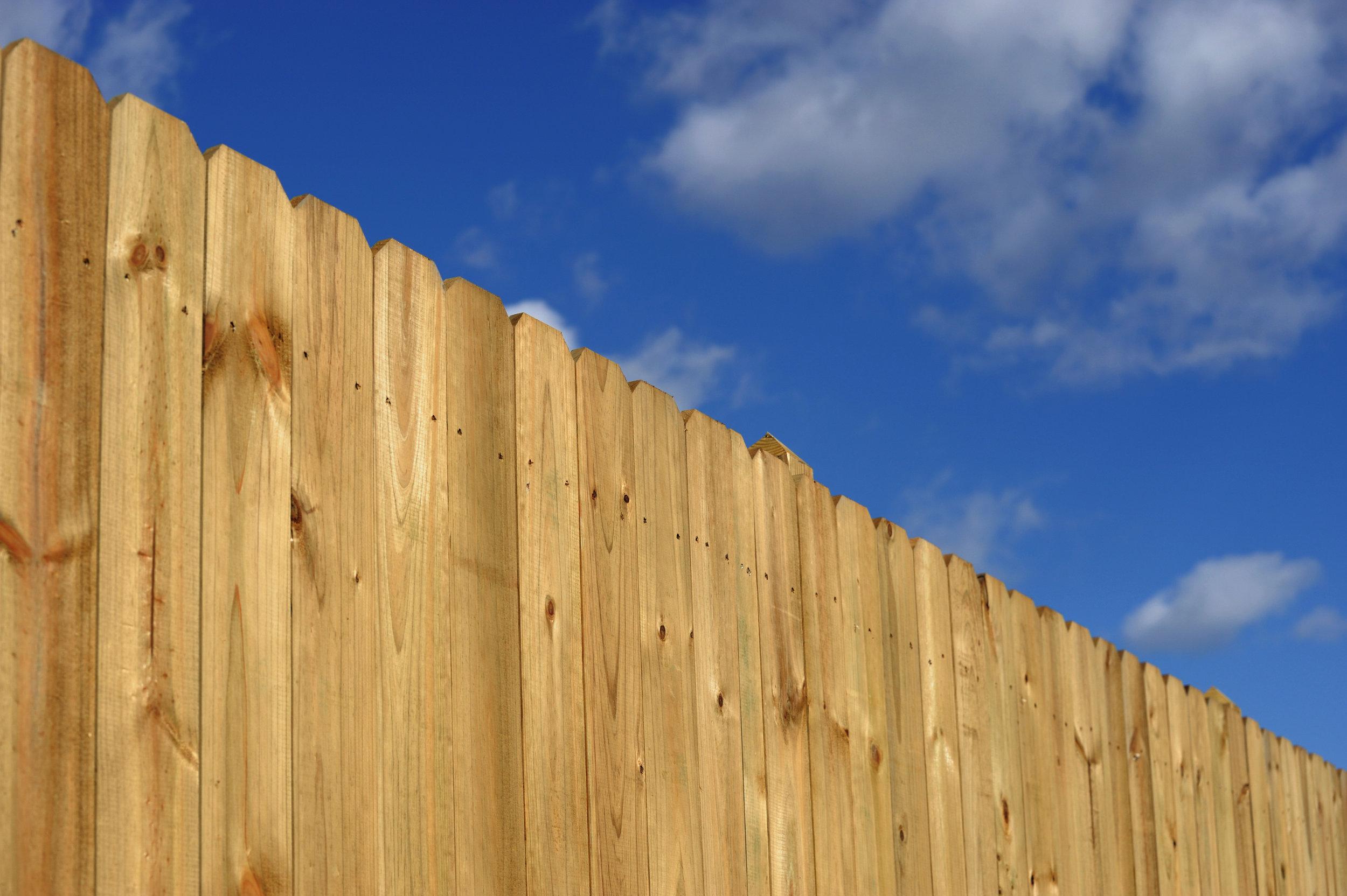 "dog eared fence 1x6 6"""