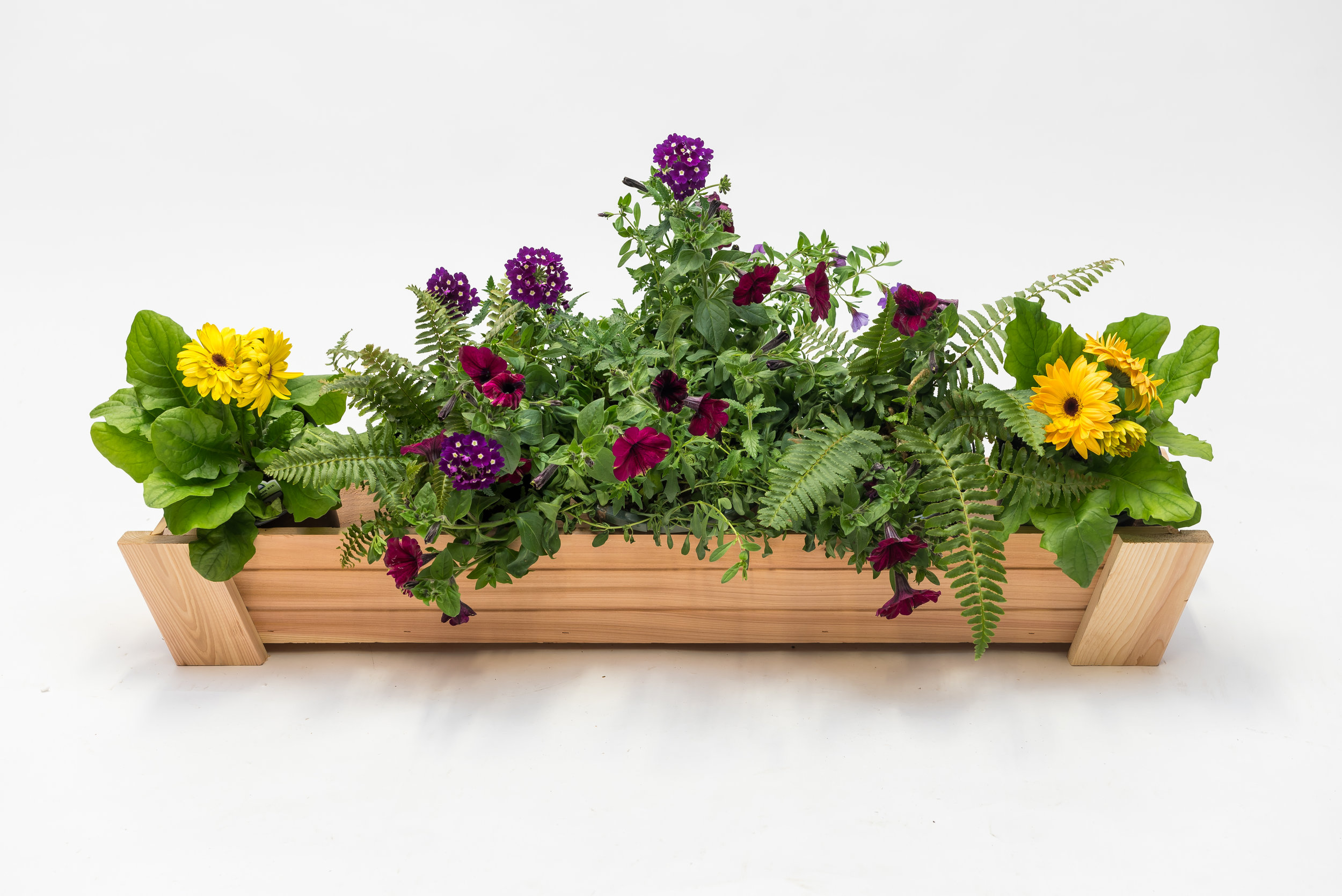 "tapered window box  dimensions: 11""x42""x6"""