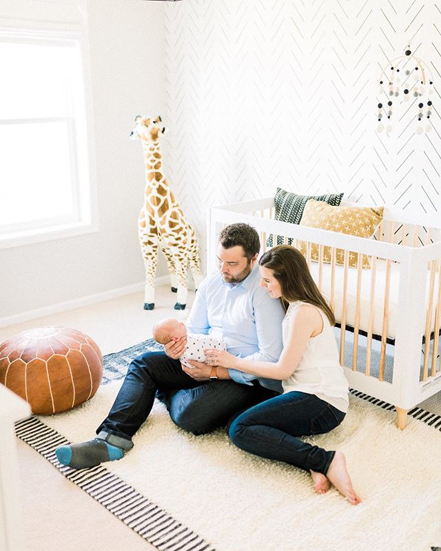 Serious nursery obsession 💙 Baby Beckett and his sweet, modern nursery are up on the blog! It's linked in my bio and also comes with some of the cutest baby snuggles.