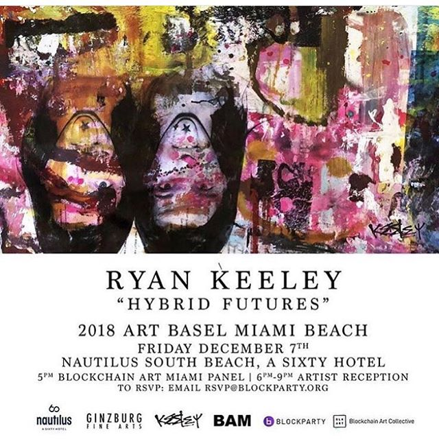 See you tonight at 5 at the Nautilus South Beach for Blockchain Art Miami!! @jacquelineyorkoneill from @blockchainartcollective and @vginzburg from @goblockparty are your hosts and our panelists are @ezavelev from @new.art.academy, @fanny.lakoubay from @snarkdotart, @judy.mam from @dadapower, @traceyryans, @nicolettekahen, @nanu_berks, and art by @ryankeeley. See you tonight for a lovely discussion about Blockchain and art over cocktails and art! 🎉🎉🎉