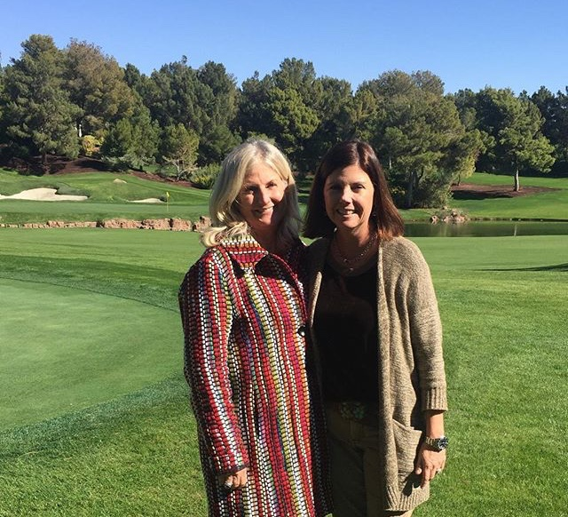"""You don't have to be a golfer to enjoy the fun of Fly Fore Leukemia. Quick easy trips are sometimes the best!"" - — Robin Bagwell (L), pictured with Jo Hendrick"