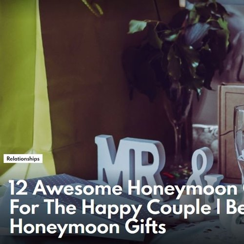 12 Awesome Honeymoon Gift Ideas For The Happy Couple - Fupping