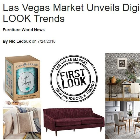 Las Vegas Market Unveils Digital Preview of FIRST LOOK Trends - Furniture World News