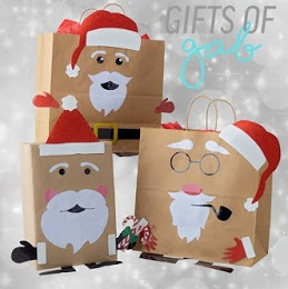 Have a Ho Ho Lot of Fun Packaging Up Your Gifts This Holiday Season with Fun Can-O-Grams and Gift Bag Decal Sets from Gifts of Gab - Inspired by Savannah