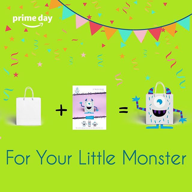 """Ready to make a kid's day that loves monsters? Or throw an epic themed monster party? For Amazon's Prime Day we are giving 25% off on our Monster booklets! 👹  Use the promo code """"25UNIMON"""" to receive 25% off your purchase. Promotion only valid on prime day!  Click the link in our bio to get straight to buying this cute monster booklet!🎁👹🛍 . . . #primeday #momhack #giftsofgab #giftbagmasterpiece #monster #birthdayparty #diy #kidsparty #amazon #gift #babyshowergift #babyshower #birthday #dadhack #giftbag #giftbox #giftideas"""