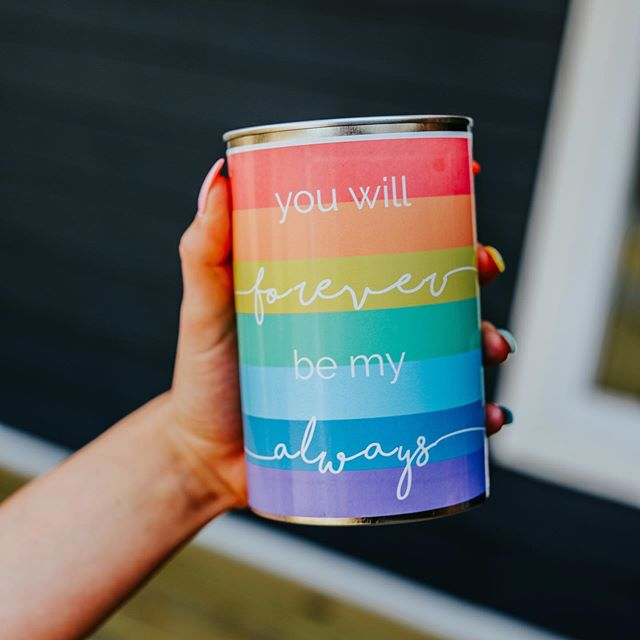 You will forever be my always 💜💙💛 Fill it with a memorable gift or a love note to give your love on on your wedding day  #pride #pridewedding #giftsofgab #love