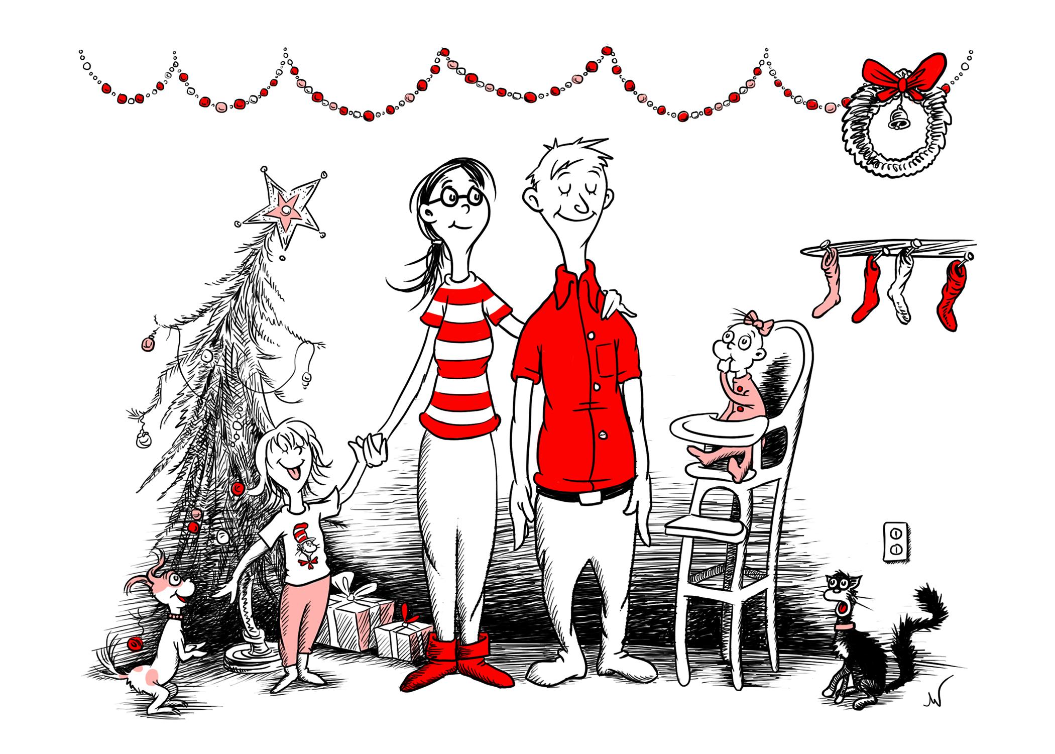 """Seuss Christmas Card"""