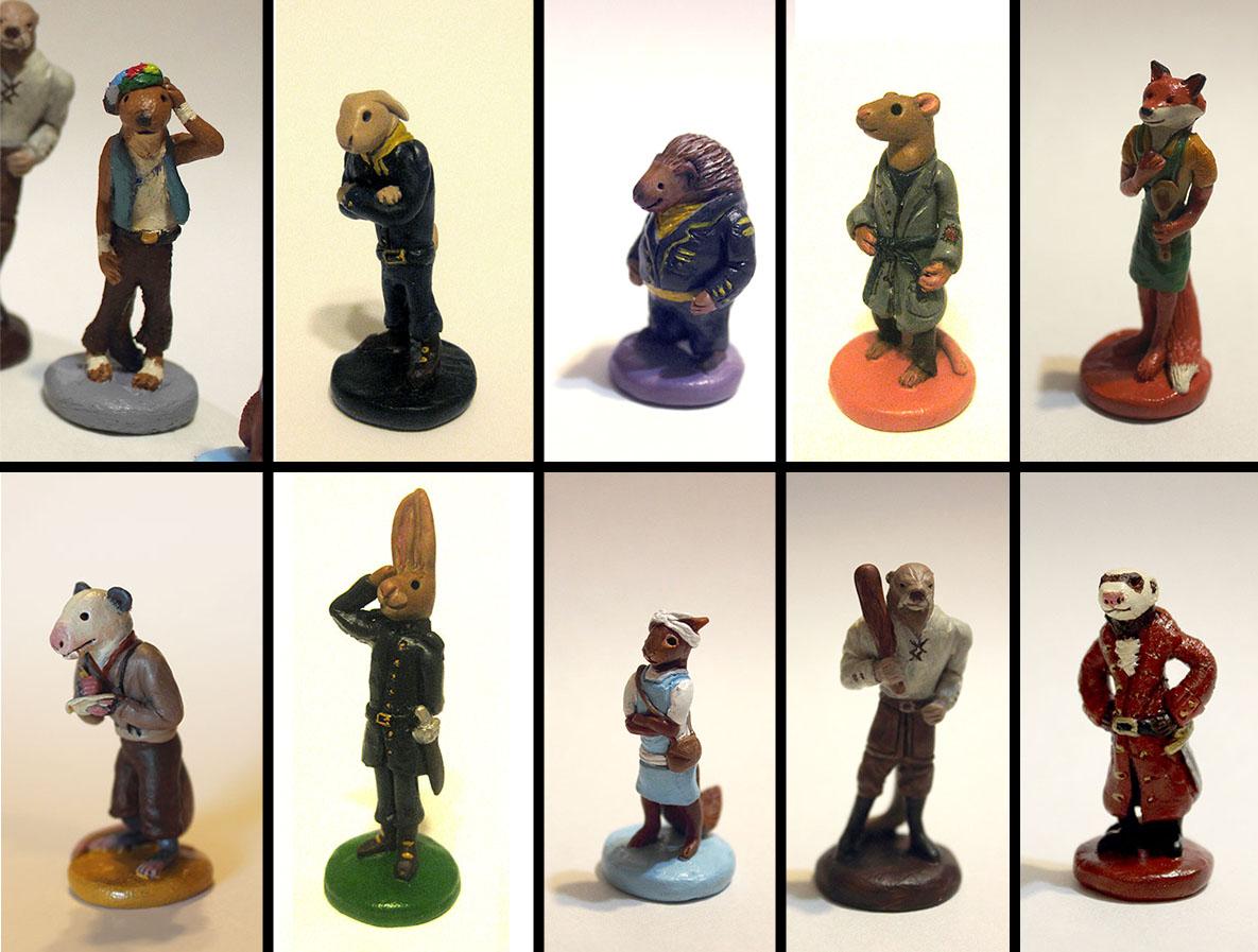 MO3 Character Sculptures