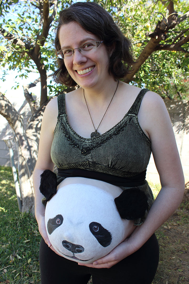 """Panda Belly Painting"""
