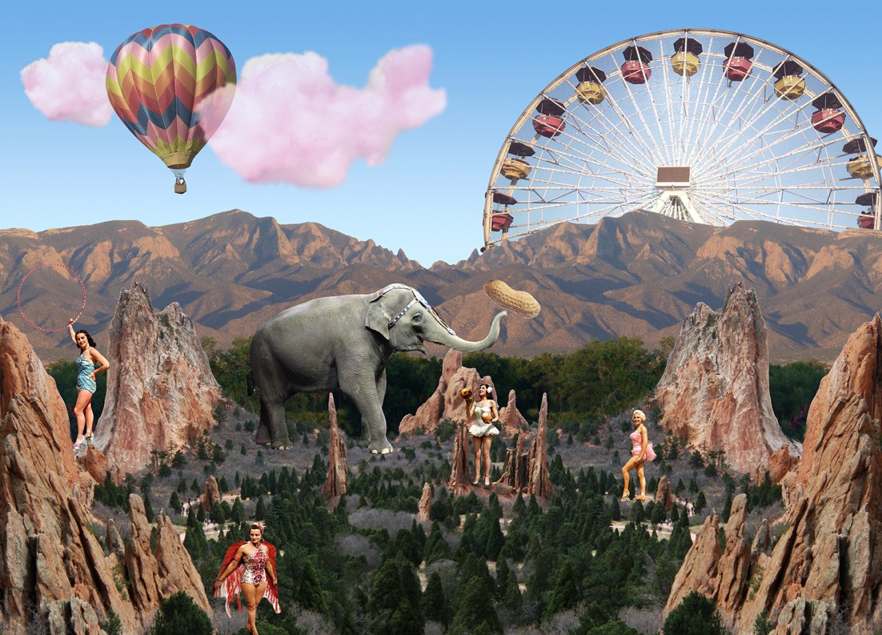 Photoshop Collage: Not My Circus.