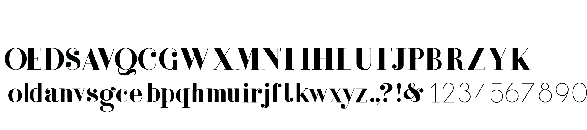 Lucille Font | Hand-built in Adobe