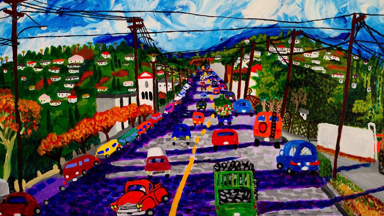 Image is by Distinguished Chicano artist Roberto Gutierrez   https://robertogutierrezartist.com/