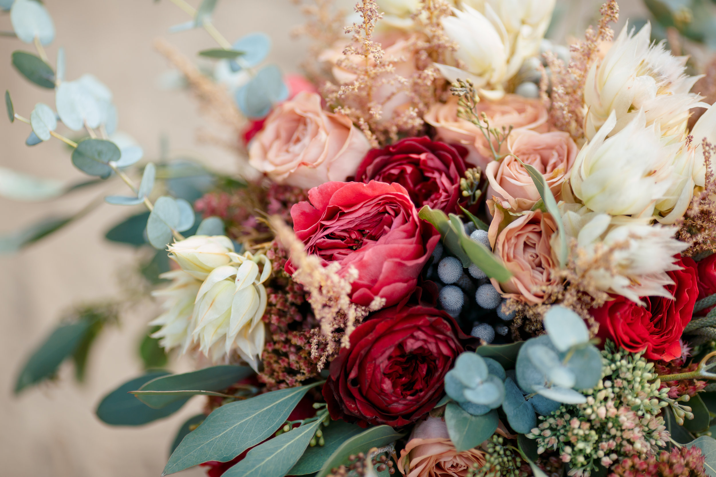 Beautiful wedding bouquet.