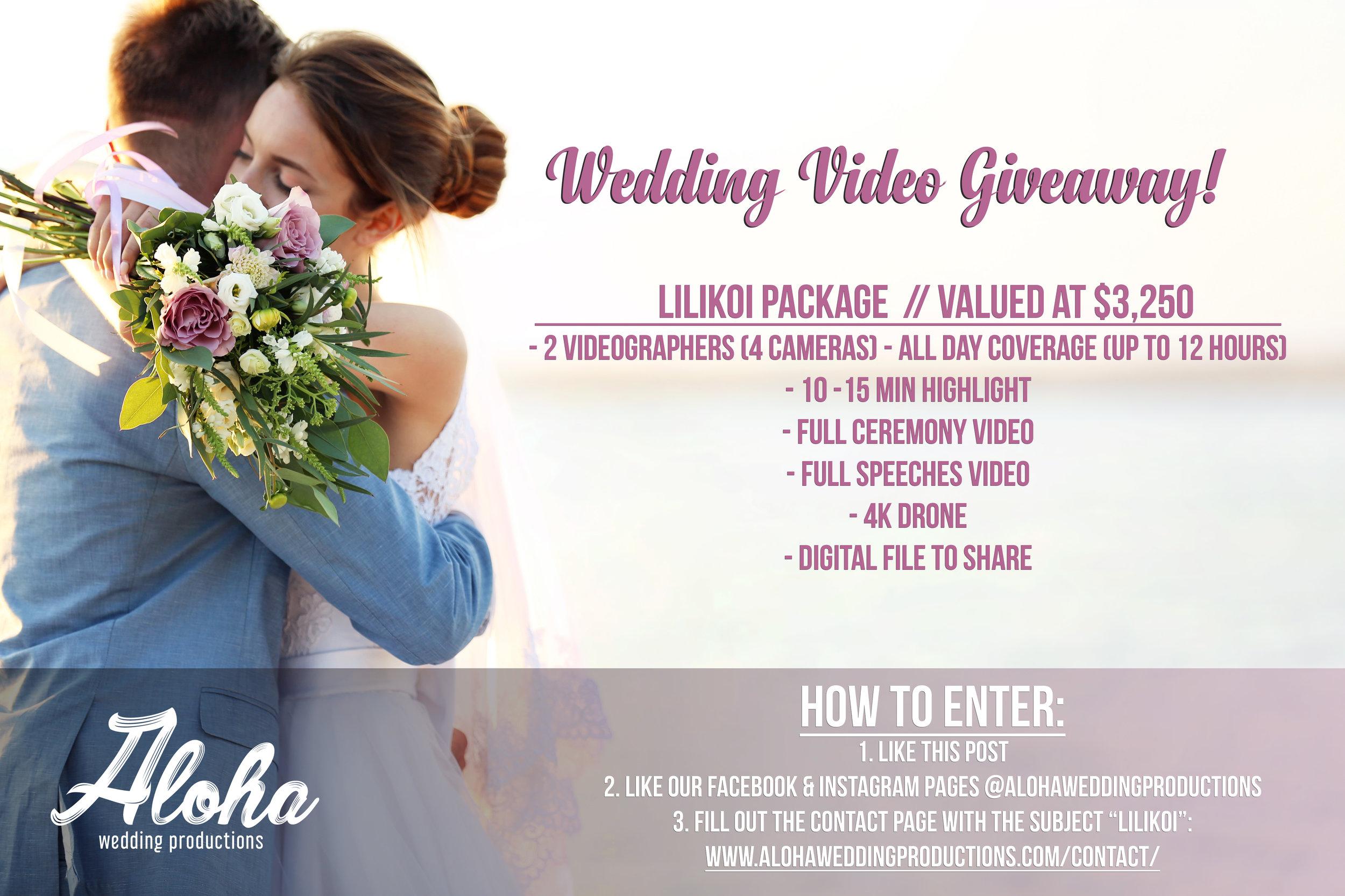 Hawaii Wedding Video Giveaway