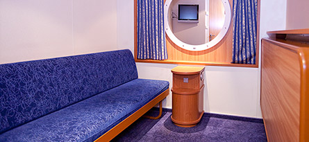 B4 (top deck, 2 lower beds, 2 upper beds, no window)   62€/person for 4 passengers 65€/person for 3 passengers