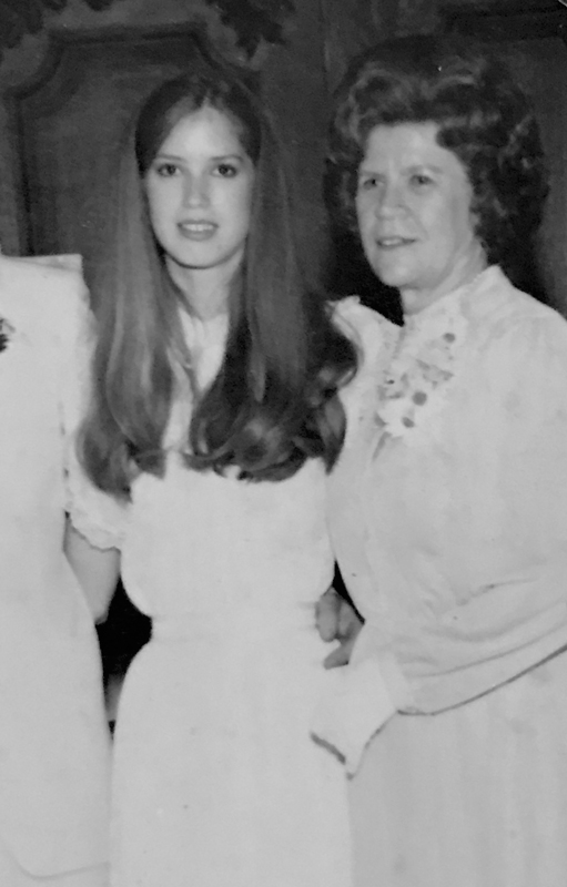 There I was, 18 and fresh as a daisy with my mother, who is now 90 years old.