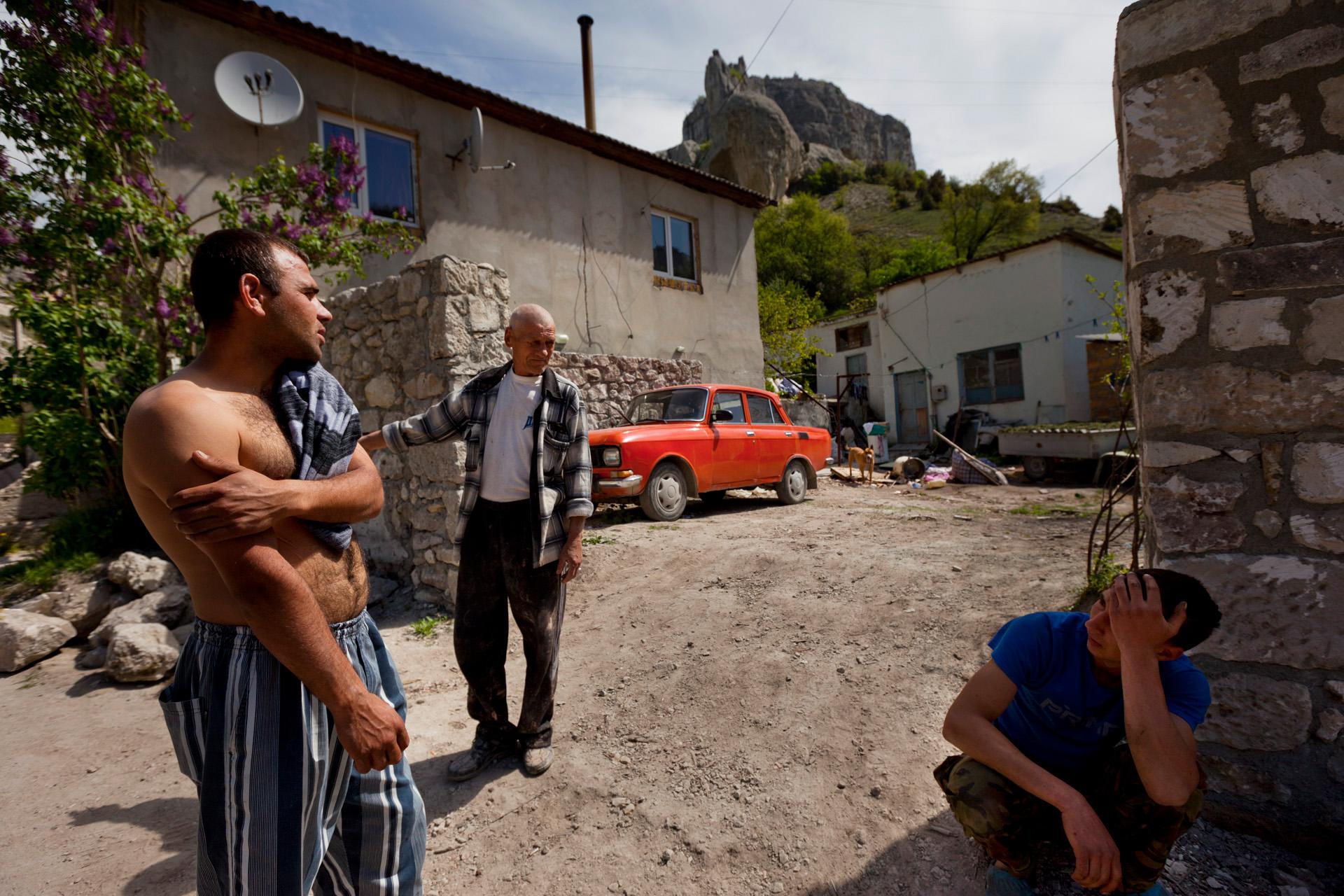 In the streets of the Tatar village Staroselye, near Bakhchiseray.  Staroselye, Crimea