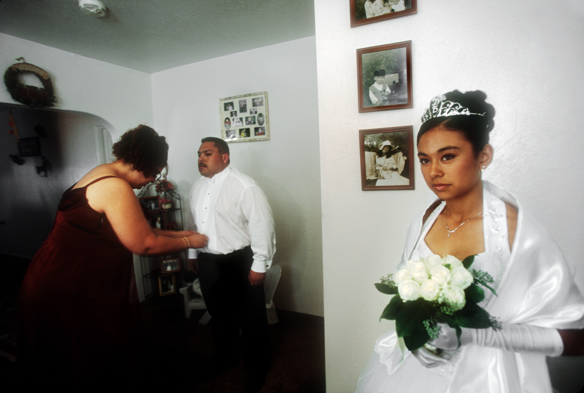 This teen gets ready along with her mom and step dad for her quinceañera, an elaborate Hispanic rite of passage for Latina girls turning 15 that can rival the pomp and expense of wedding celebrations.  Brawley