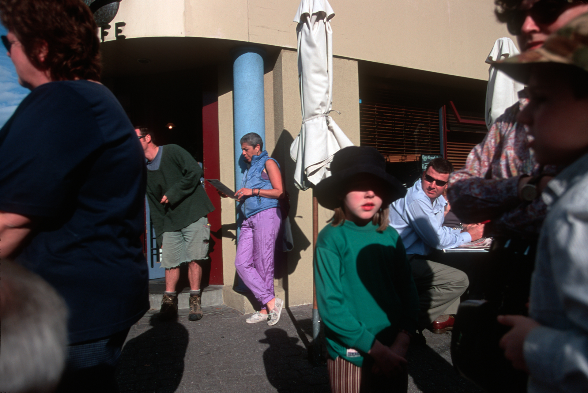 Every Saturday morning a popular open air, arts and crafts market is held at Salamanca place by the harbor in Hobart.  Hobart