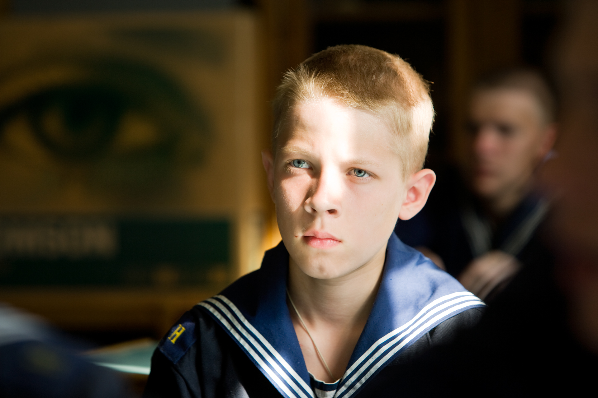 A young cadet at the Nakhimov Naval Academy in St. Petersburg, an historic maritime capital since Bering's times.  St. Petersburg, Russia