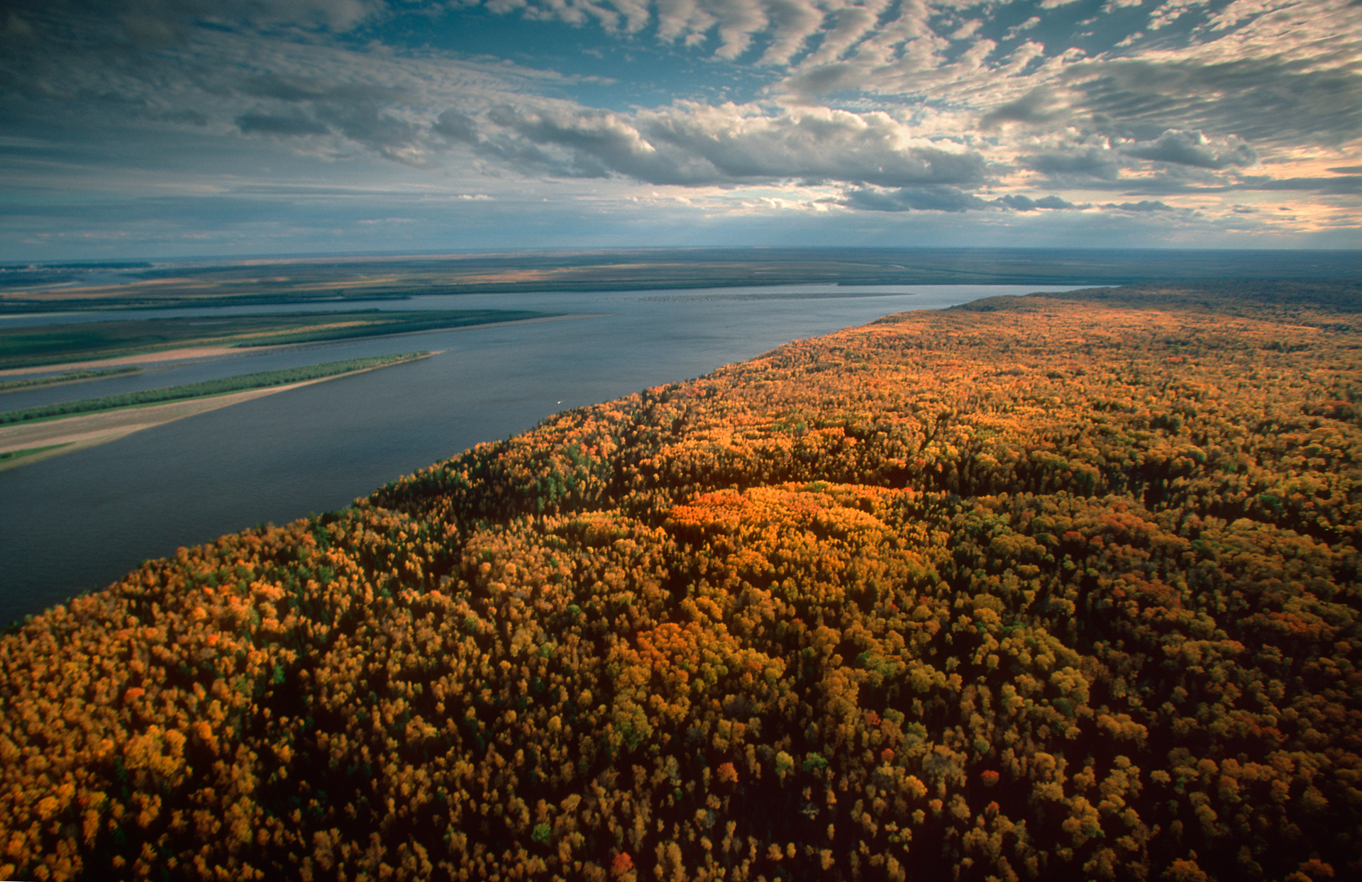 Bering's expedition set up camp at the convergence of the Ob and Irtysh rivers.  Khanty-Mansiysk Region, Russia