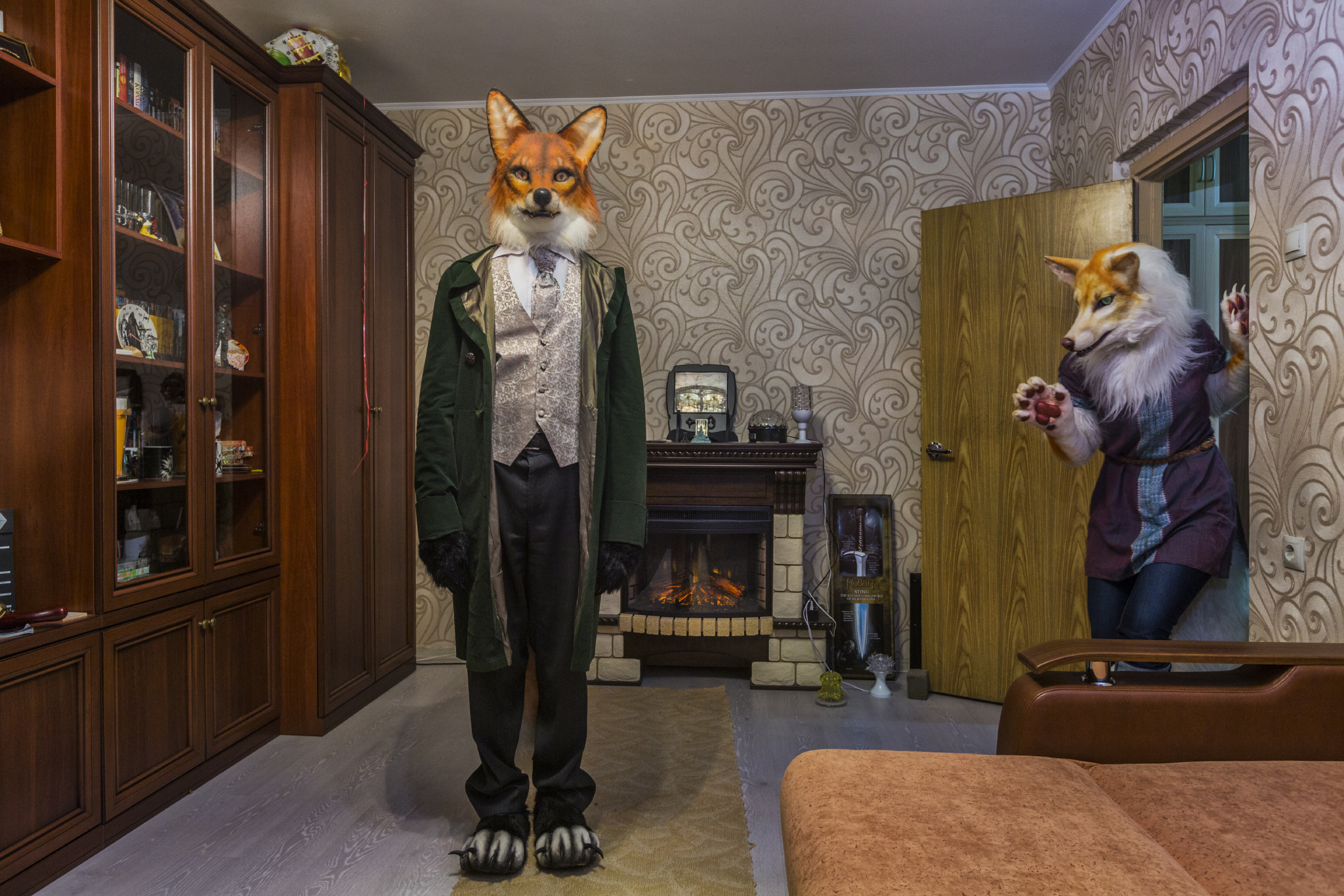 Alexander and Victoria Kylynin escape the everyday through cosplay in their suburban Moscow flat. The 28-year-old banker and 25-year-old interior designer own several animal outfits.  Zelenograd, Russia