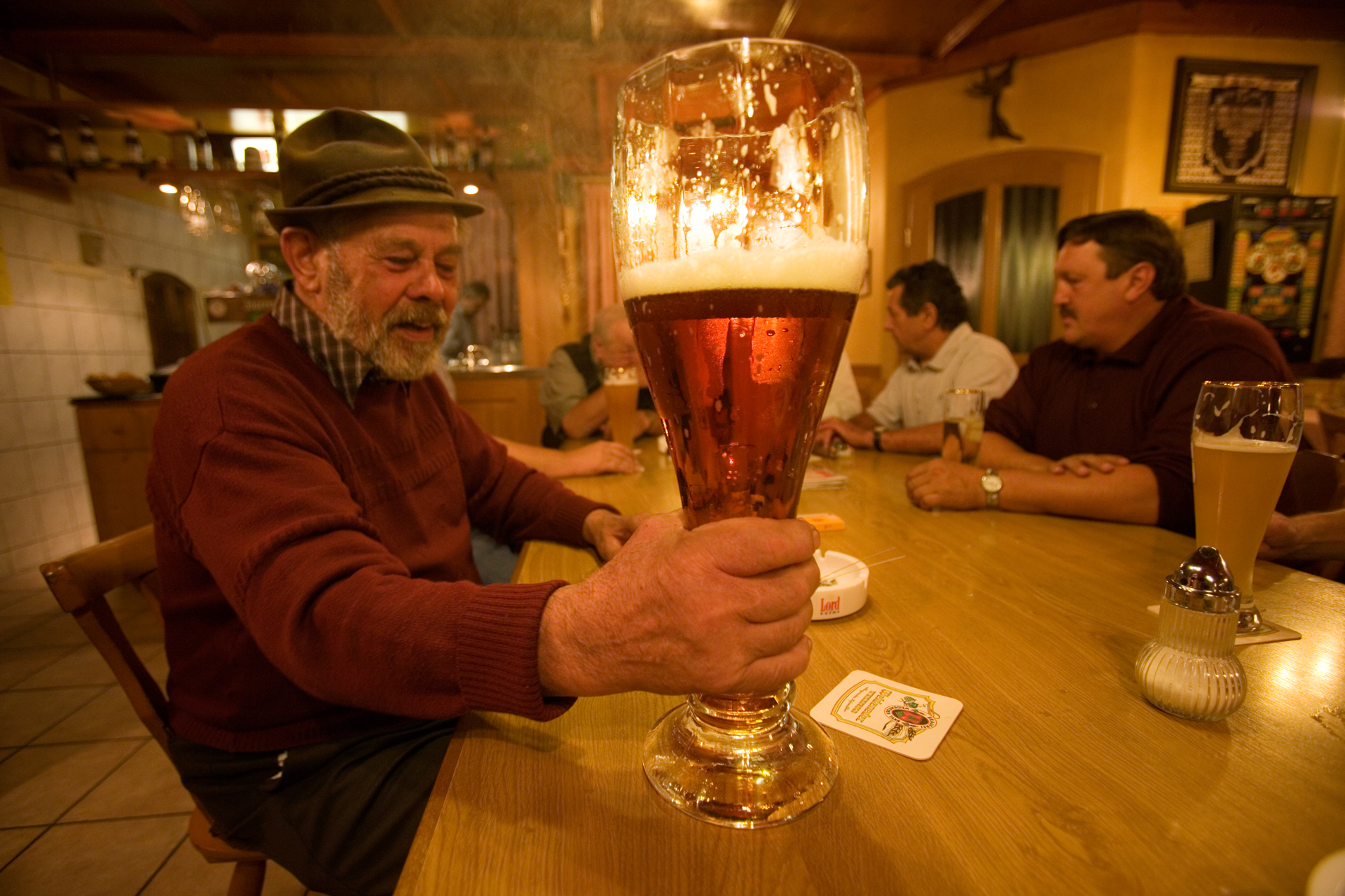 Many merchants of Marktl have been quick to spot the Pope's commercial potential, but no one has been quicker than Weideneder Bräu, the brewers of Pope Beer.  Marktl, Germany