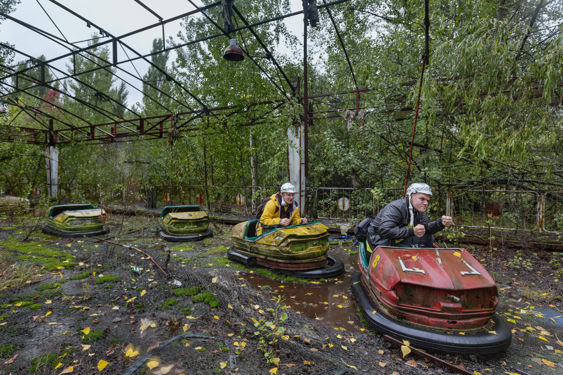 A symbol of abandonment, the amusement park in Pripyat was being readied for the May Day celebrations, when the nearby reactor blew up.  Pripyat, Ukraine