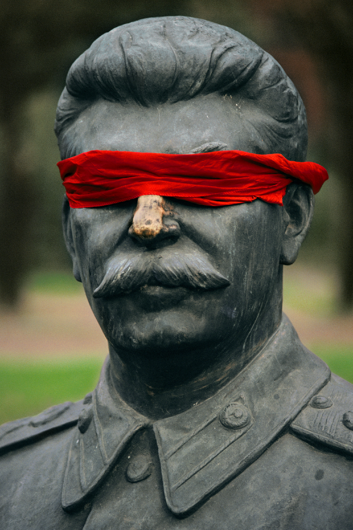 Stalin, Blindfolded, Moscow, Russia 1991