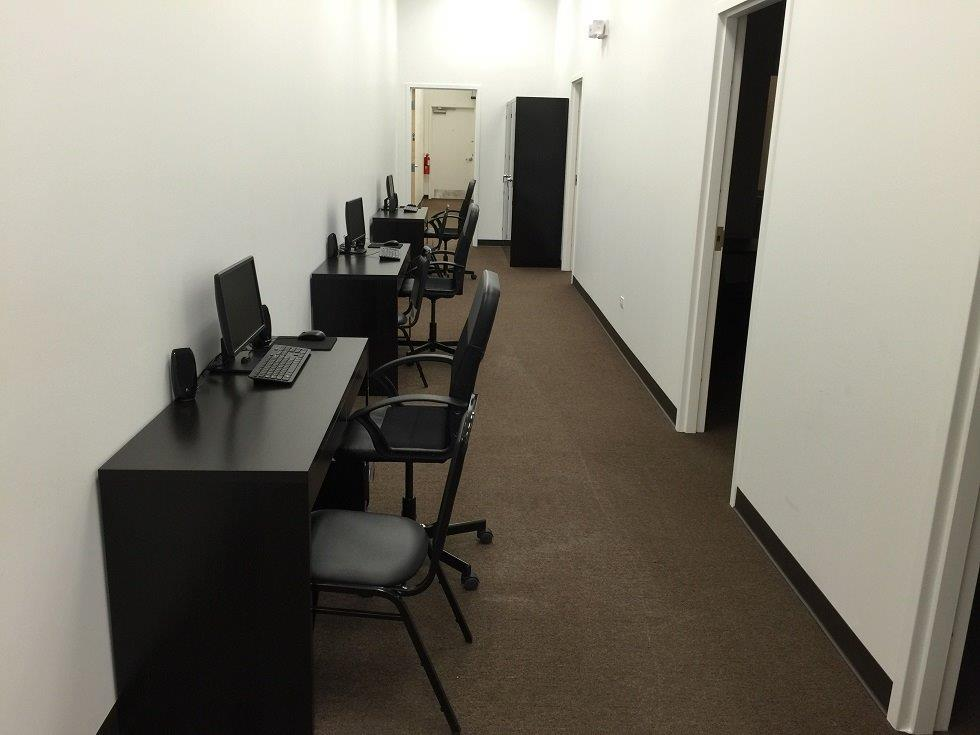 Interviewing stations in hallway. IMG_0572[1].jpg