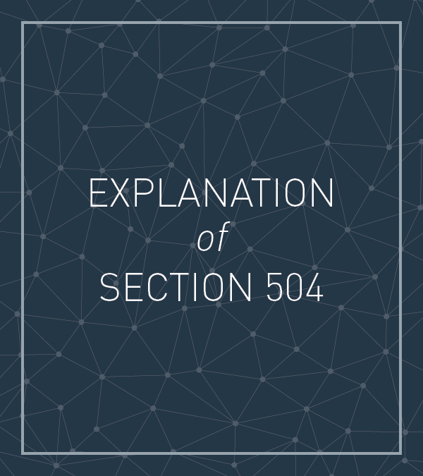 Frequently Asked Questions About Section 504 and the Education of Children with Disabilities