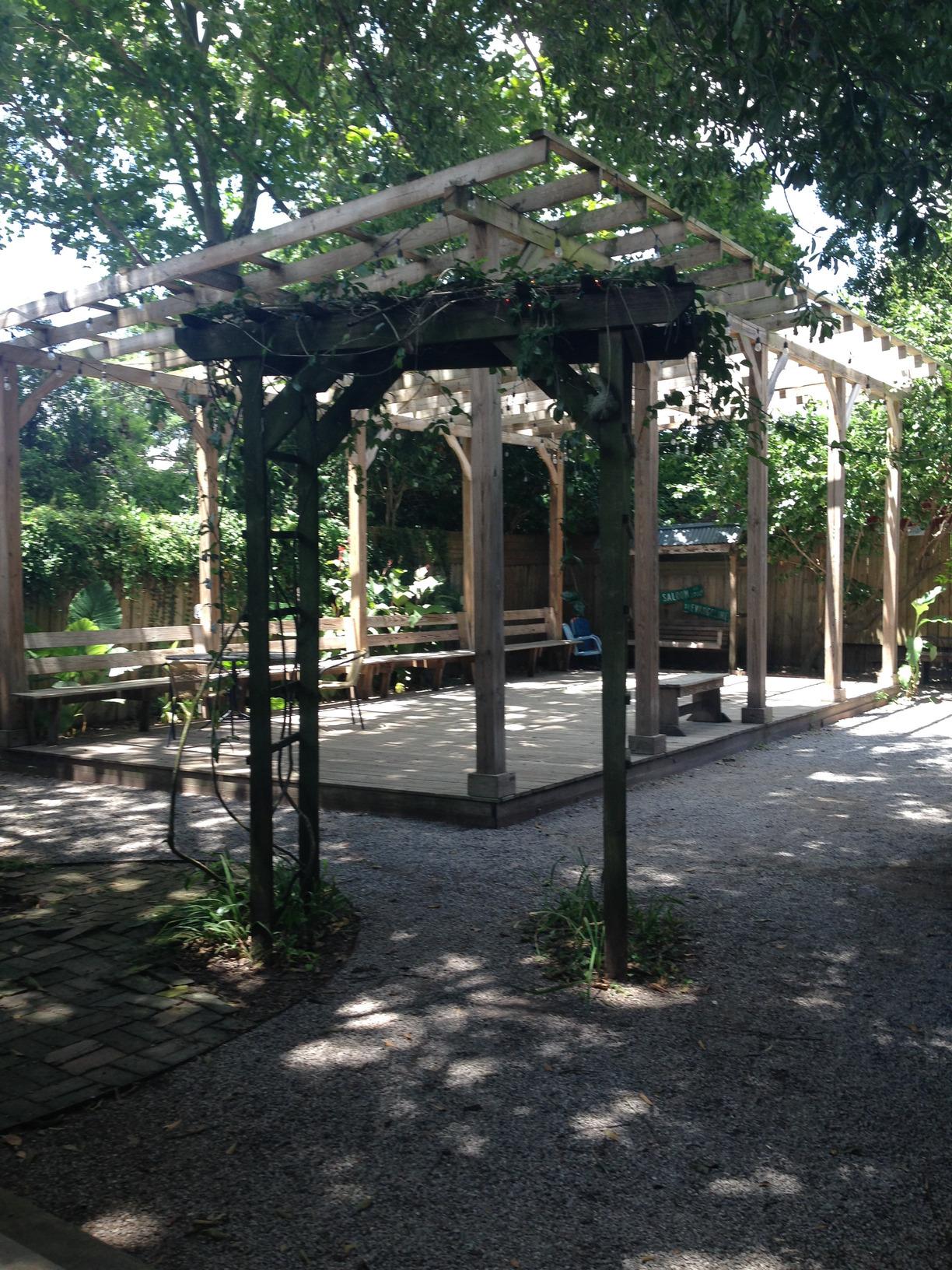 Blue Moon Saloon Courtyard