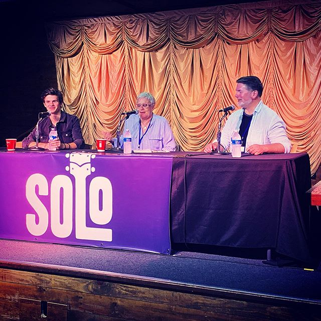 """""""As long as you don't pursue fame and fortune, everything will be ok"""" Time to tell the stories. Payton was discovered in a hotel lobby and now is signed with a big label. He and his dad Eric are telling us about how they've learned to Navigate Nashville.#solosongfest #musicbusiness"""