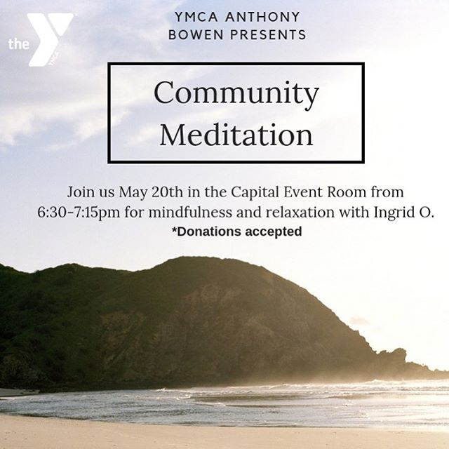Get ZEN with me Monday May 20 @ymcabowen 630-715! #mindfulmondays #breath #meditation 🧘🏼‍♀️