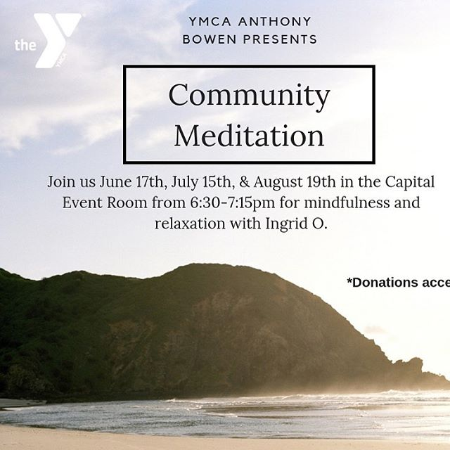 Join me tomorrow for another #mindfulmonday at @ymcabowen! 630 pm in the capital event room - bring a friend! Non-Y members welcome! 🧡🧘‍♂️🧘‍♀️