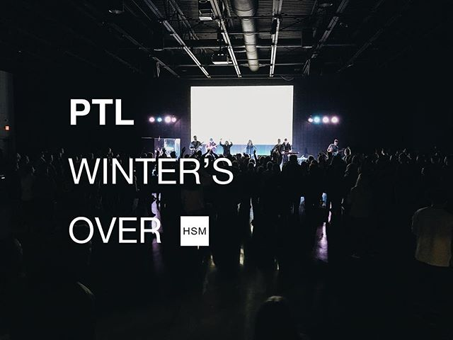 "today is the first day of ""spring"" but it's snowing 🤦‍♂️ ...either way, technically it's spring so we're celebrating with PTL WINTER'S OVER! a night filled with cupcakes 🧁 chocolate milk🍫🥛 games 🥊 prizes 🏆 and a special celebratory time of extended worship 🙌 through Psalm 100"