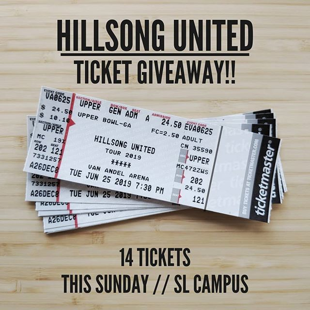 Hillsong United Ticket Giveaway! This Sunday, after the 11am service, I will be at the front right of the stage with the tickets. First come, first serve. One ticket per person! Only 14 tickets! Concert is June 25, 7:30pm at Van Andel Arena.