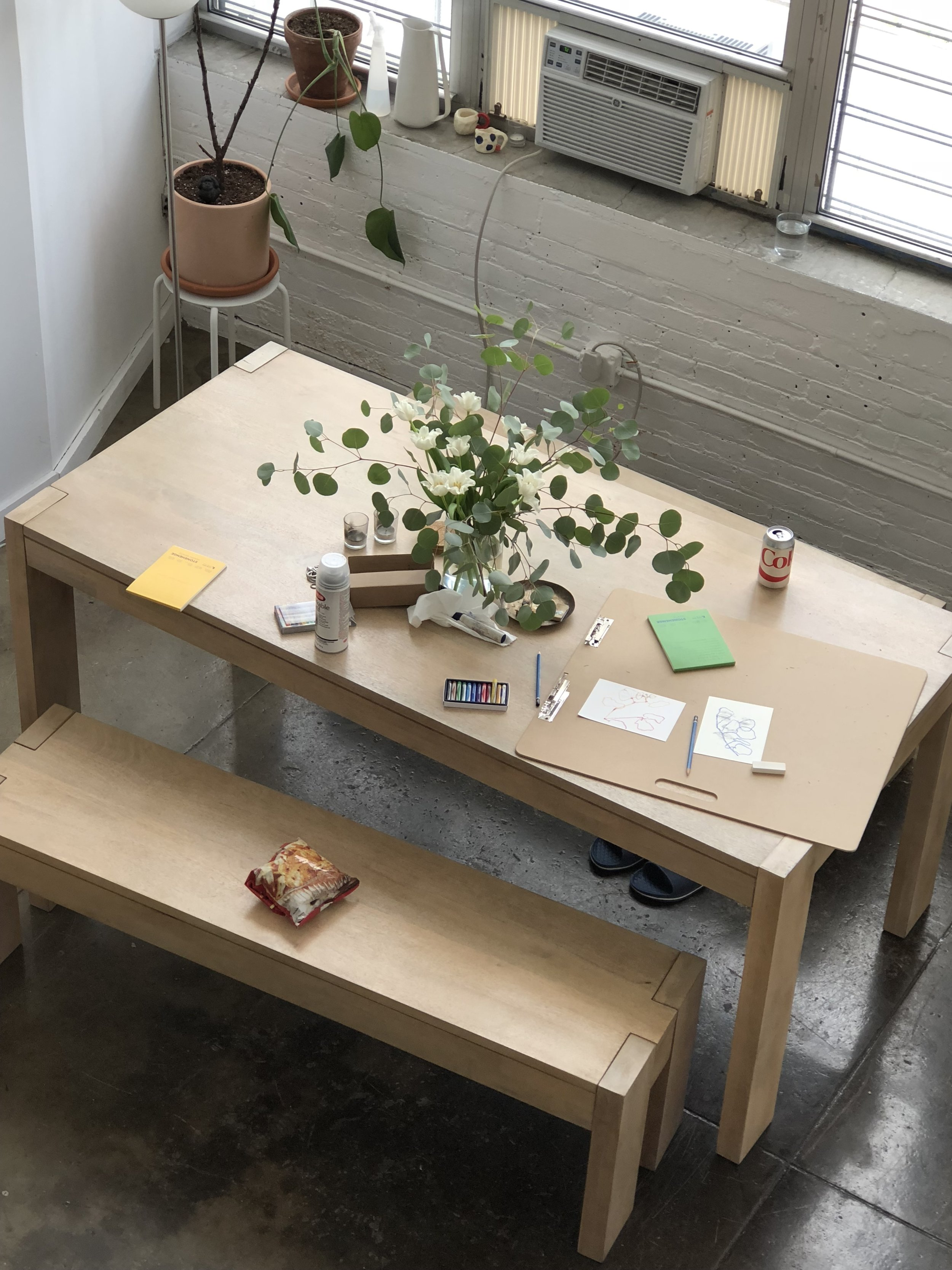 HELLO - Andrea Nhu-Phuong Nguyen (b.1988) works from this table in her home in Brooklyn, New York.contact / collaboration / conversations:andreapnguyen@gmail.com