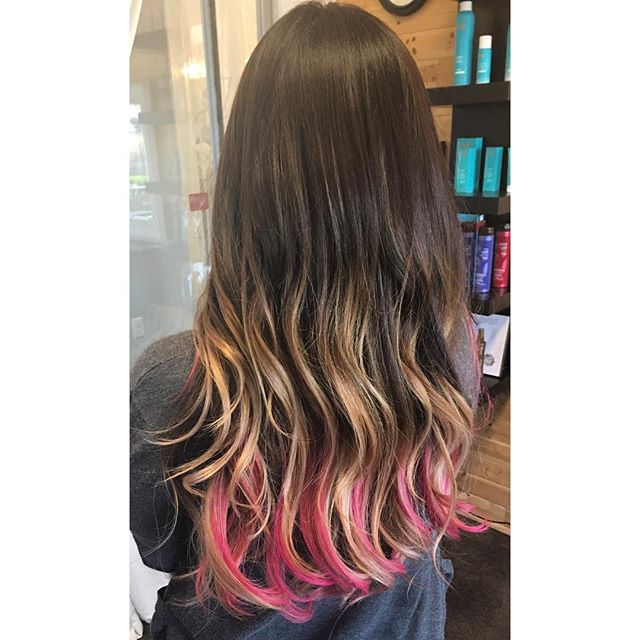 Touch of pink🎨💁 #pink #coloredhair